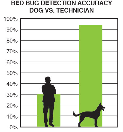 Bed Bug Detection Accuracy - Dog vs. Technician